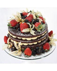 Naked Cake Brownie 30 cm