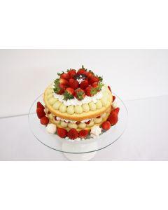 Naked Cake Morango com suspiro 30 cm