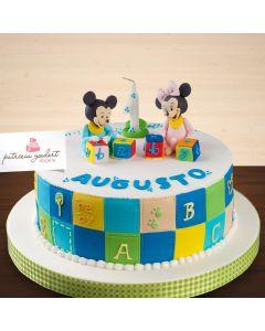 Bolo Temático Mickey e Minnie Baby