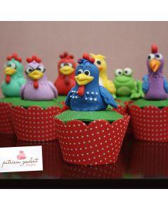 Cupcakes Galinha Pintadinha 1 (6 unidades)