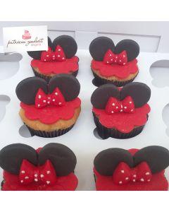 Cupcakes Minnie 2 (6 unidades)