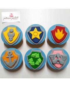Cupcakes Distintivos Patrulha Canina (6 unidades)
