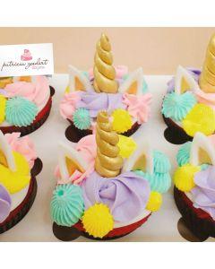 Cupcakes de Unicórnio (6 unidades)